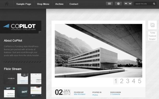 A tumblog theme for publishing. Homepage | Demo