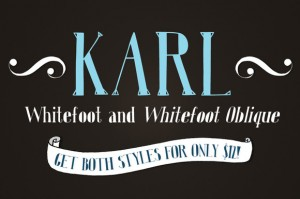 Karl Whitefoot and Whitefoot Oblique Fonts
