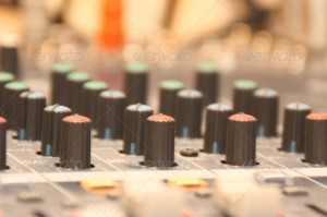 Audio Mixing Desk Knobs & Controls from PhotoDune