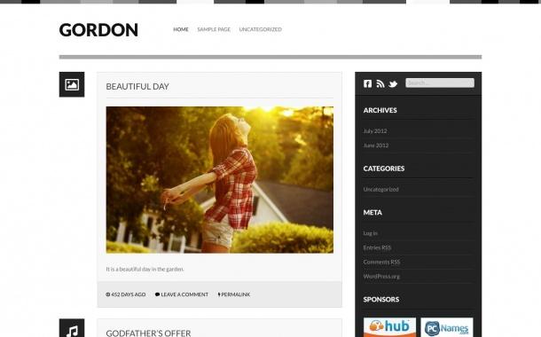 Gordon - A minimalistic tumblog theme. Demo | Homepage