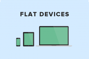 Flat Apple devices  from Creative Market