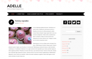 Adelle - A soft, chic and effeminate WordPress theme for blogs. Demo | Homepage