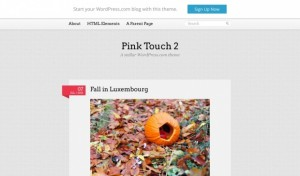 Pink Touch 2 - A vibrant and colurful theme for personal blogs. Demo | Homepage