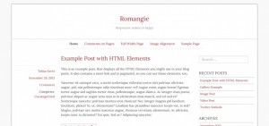 Romangie; a simple Responsive & Retina-Ready blogging theme.