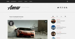 Anew, a Tumblr inspired blogging theme. Demo | Homepage