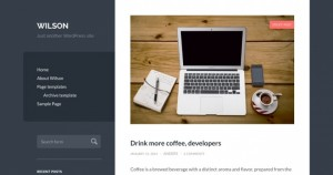 Wilson, a simple responsive blogging theme for personal sites. Demo | Homepage
